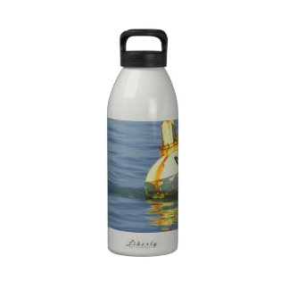 A water buoy in blue waters of San Francisco Bay Reusable Water Bottle