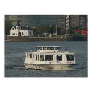 A Water Bus at Cardiff Bay Poster