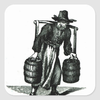 A Water Carrier Square Sticker