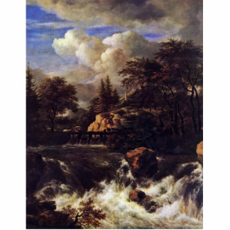 A Waterfall In A Rocky Landscape By Ruisdael Jacob Cut Outs