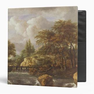 A Waterfall in a Rocky Landscape, c.1660-70 3 Ring Binders