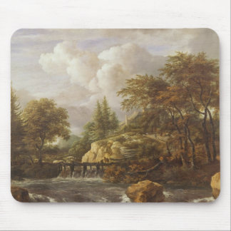 A Waterfall in a Rocky Landscape, c.1660-70 Mouse Pad