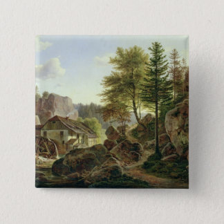 A Watermill in the Vosges near Ribanville, 1836 Pinback Button