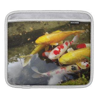 A waterway full of Japanese koi carps iPad Sleeve