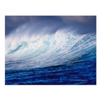a wave building postcard