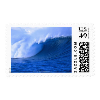 a wave crashing stamp
