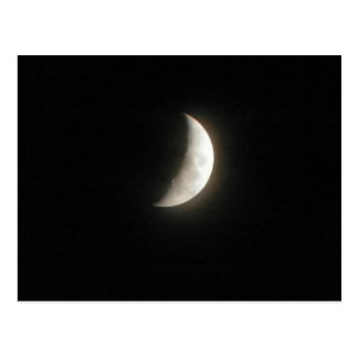 A waxing crescent moon- a young moon post cards
