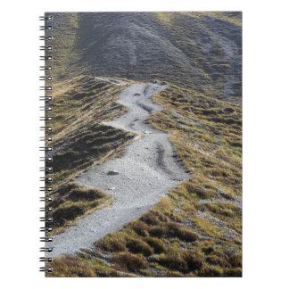 A way in alpine grassland spiral notebook