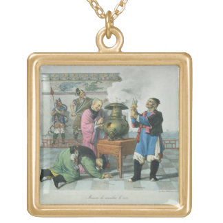 A Way of Telling the Future, engraved by Mlle. For Square Pendant Necklace