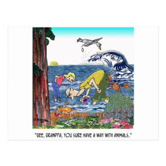 A Way With Tidepool Animals Postcard