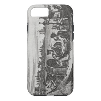 A Wealthy Mandarin Dining in a Boat, illustration iPhone 8/7 Case