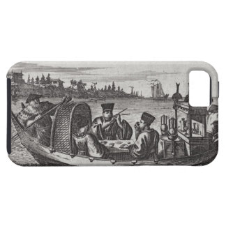 A Wealthy Mandarin Dining in a Boat, illustration iPhone SE/5/5s Case