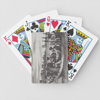 A Wealthy Mandarin Dining in a Boat, illustration Bicycle Playing Cards