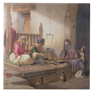 A weaver in Esna, one of 24 illustrations produced Tile