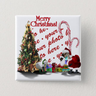A Web Footed Christmas Button