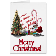 A Web Footed Christmas Greeting Card