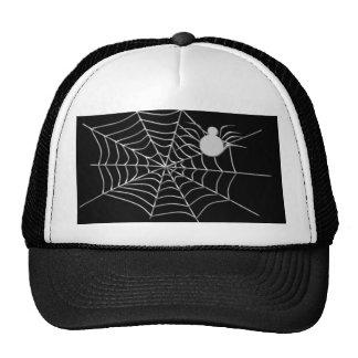 a web, spider trucker hat