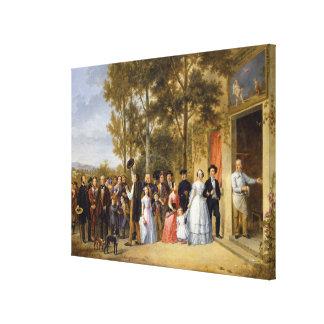 A Wedding at the Coeur Volant, Louveciennes Canvas Print