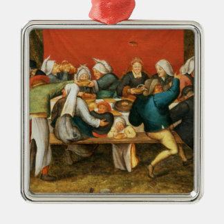A Wedding Feast Metal Ornament