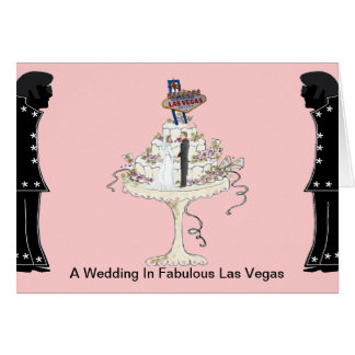 A Wedding In Fabulous Las Vegas Card