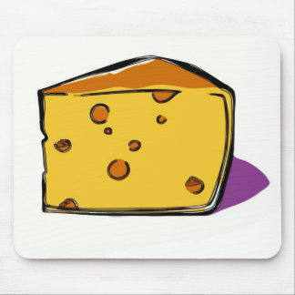 A-wedge-of-yellow-cheese-with-holes-pop-art Mouse Pad