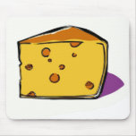 A-wedge-of-yellow-cheese-with-holes-pop-art Mouse Pads