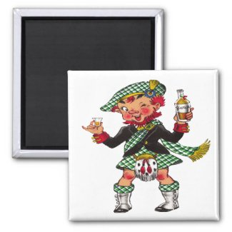A Wee Bit O' Scotch Magnet magnet