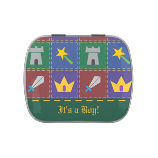 A Wee One's Fantasy Quilt Baby Shower Candy Favor Jelly Belly Candy Tin
