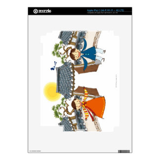 A Welcoming Boy and Girl Skin For iPad 3