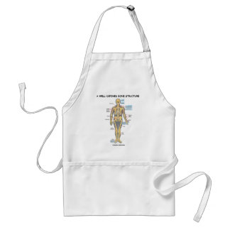 A Well-Defined Bone Structure (Human Skeleton) Adult Apron