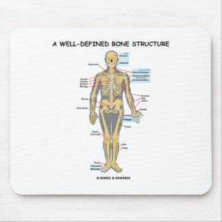 A Well-Defined Bone Structure Human Skeleton Mousepads