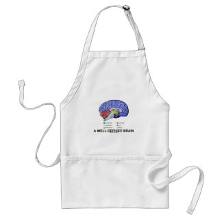A Well-Defined Brain (Anatomical Brain Humor) Adult Apron