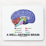 A Well-Defined Brain (Anatomical Brain Humor) Mousepad