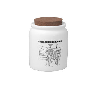 A Well-Defined Shoulder (Anatomical Humor) Candy Jars
