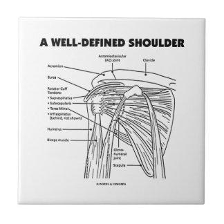A Well-Defined Shoulder (Anatomical Humor) Ceramic Tile