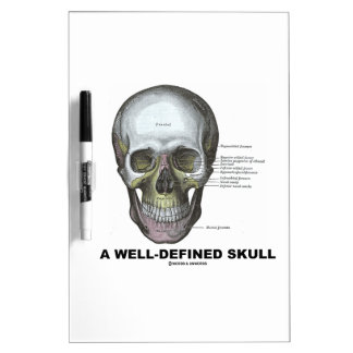 A Well-Defined Skull Medical Anatomy Dry Erase Board
