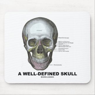 A Well-Defined Skull Medical Anatomy Mousepads