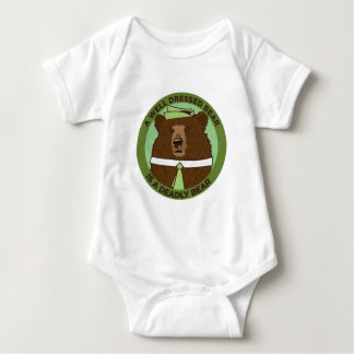 A Well Dressed Bear Is A Deadly Bear Baby Bodysuit