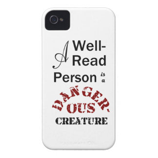 A Well-Read Person is a Dangerous Creature iPhone 4 Case-Mate Case