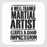 A Well-trained Martial Artist Square Stickers