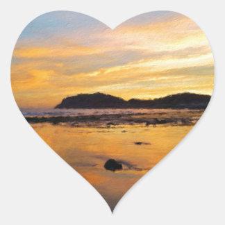 A Welsh Sunrise, Llandudno,  Wales Heart Sticker