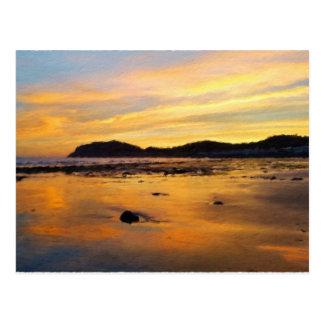 A Welsh Sunrise, Llandudno,  Wales Postcard