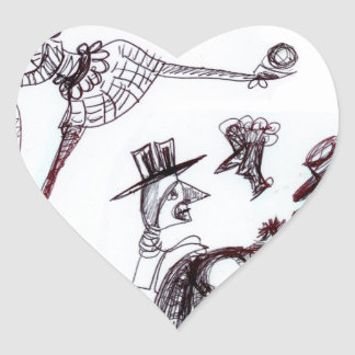 A Wendoodle Heart Stickers