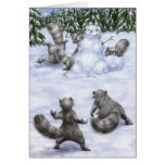 A West Coast Christmas: Raccoons Greeting Card