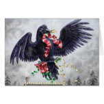 A West Coast Christmas: Raven Greeting Card