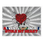 A West Virginian Stole my Heart Postcard