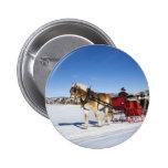 A Western Christmas - Horse Christmas Sleigh 2 Inch Round Button