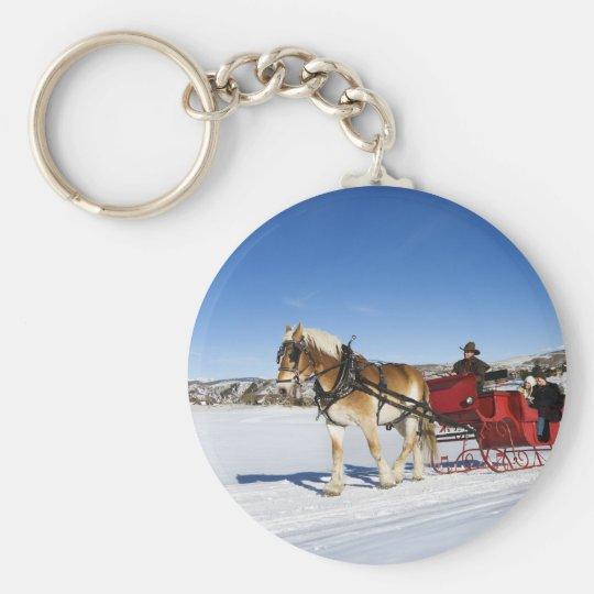 A Western Christmas - Horse Christmas Sleigh Keychain