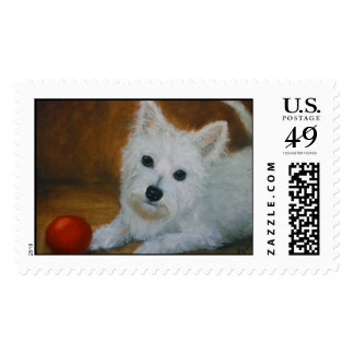 A Westie Puppy Stamp