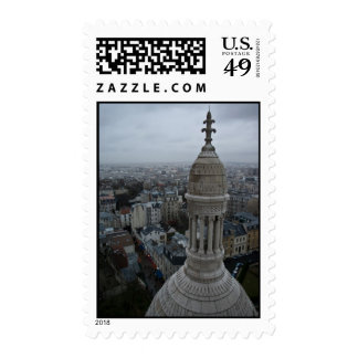 A Wet Day Over Paris Postage Stamps